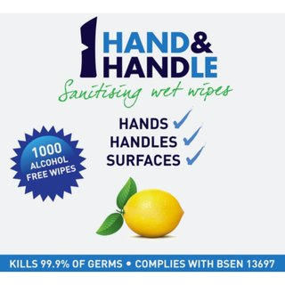 AddGards Hand & Handle Antibacterial Wet Wipes (3 x Rolls of 1000)