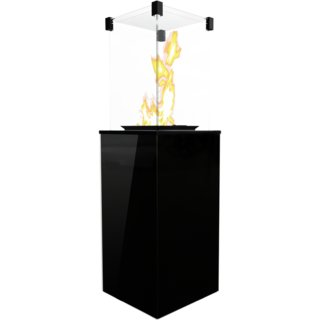 Kratki Real Flame Patio Heater - Black Glass Base Panels - Manual